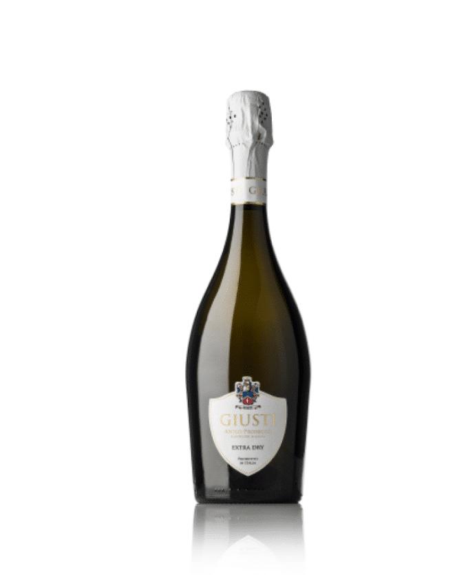 Baltas, pusiau sausas putojantis vynas Giusti Prosecco Superiore DOCG Asolo Extra dry (11,5%) 0.75l, Italija