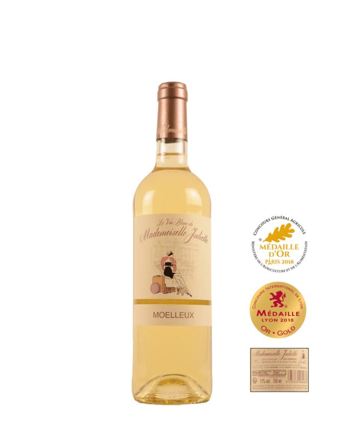 Baltas, saldus vynas Mademoiselle Juliette (12%) 0.75l, Prancūzija