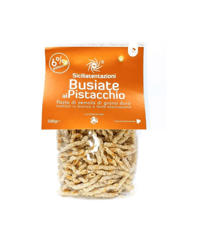 """Pilno grūdo makaronai """"Busiate"""" su pistacijomis 500g"""