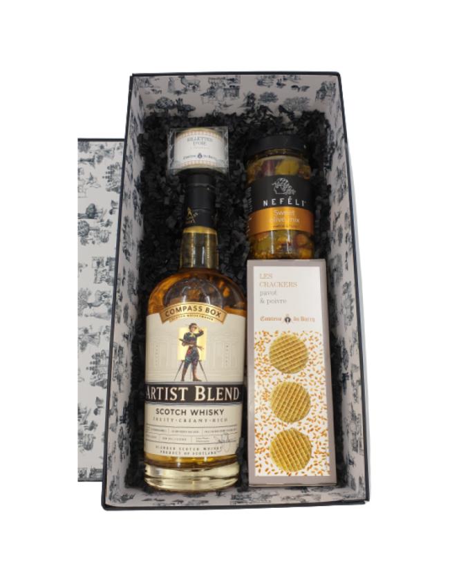 Dovanų rinkinys su škotišku viskiu